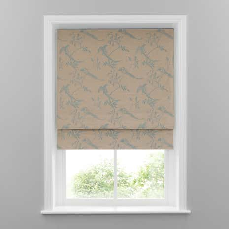 Duck-Egg Songbird Blackout Roman Blinds