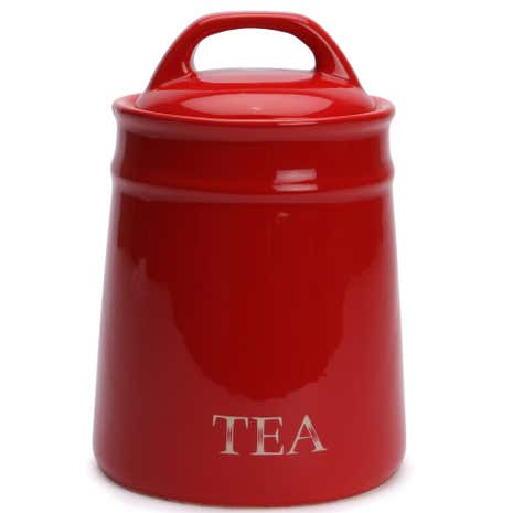 Red Country Tea Canister