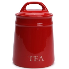 Country Red Tea Canister