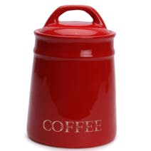 Country Red Coffee Canister