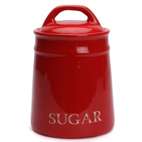 Country Red Sugar Canister