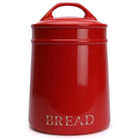Country Red Bread Bin