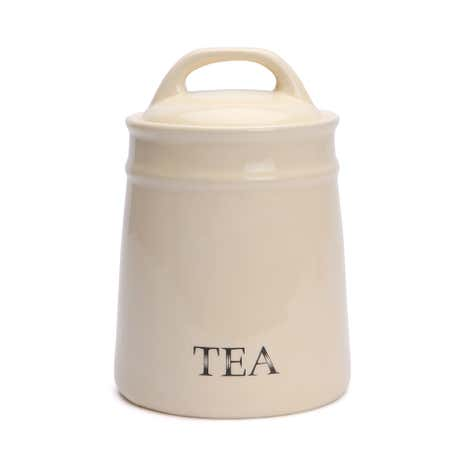 Cream Country Tea Canister
