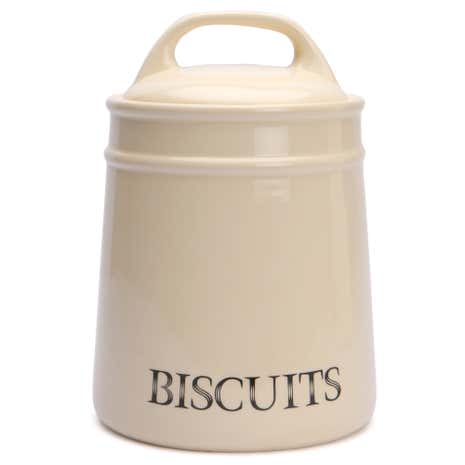 Cream Country Biscuit Canister
