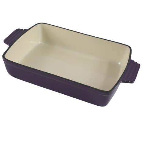 Plum Spectrum Cast Iron Rectangular Roaster