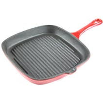 Red Spectrum Cast Iron Grill Pan