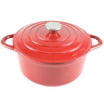 Red Spectrum Cast Iron Casserole Dish