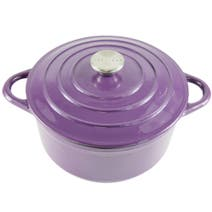 Plum Spectrum Cast Iron Casserole Dish