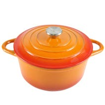 Orange Spectrum Cast Iron Casserole Dish