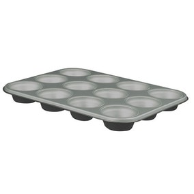 Cookshop 12 Cup Teflon Coated Muffin Pan