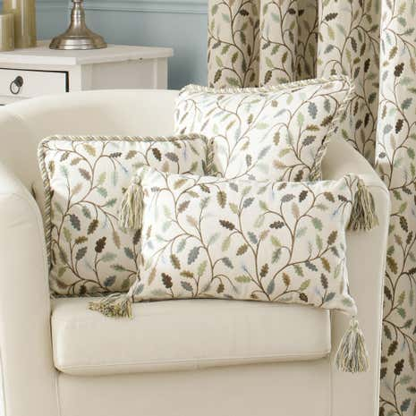 Heritage Teal Glava Arabesque Cushion