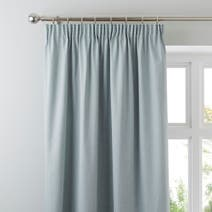 Duck Egg Solar Blackout Pencil Pleat Curtains