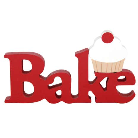 Cupcake Bake Wooden Sign