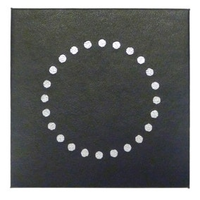 Black Circles Set Of 4 Coasters