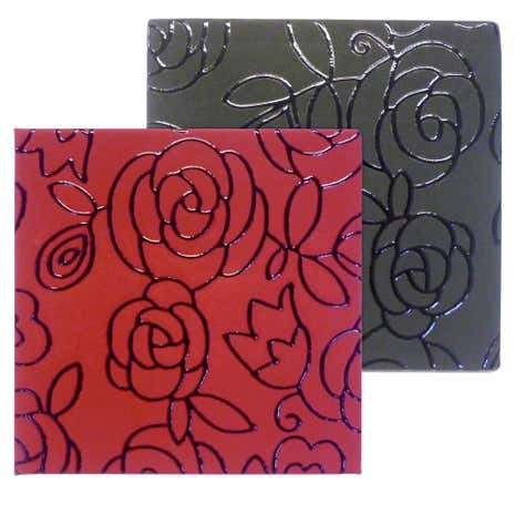 Floral Set of Four Reversible Coasters
