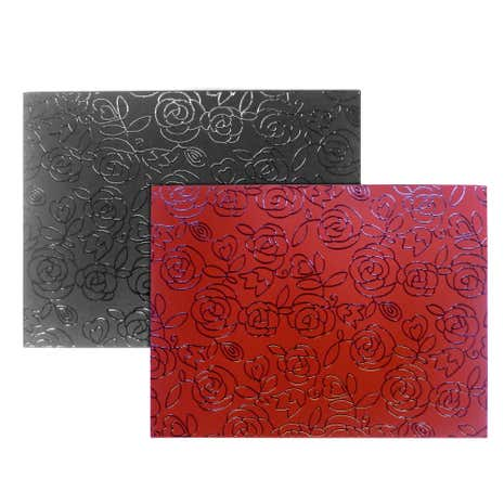 Floral Set of Four Reversible Placemats