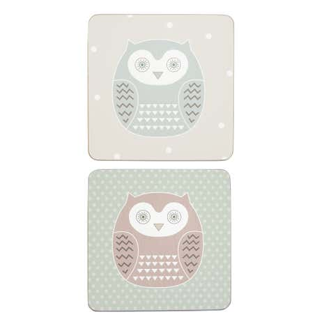 Owl Set Of 6 Coasters