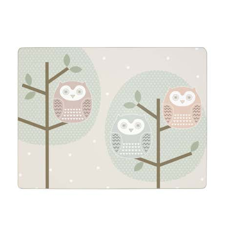 Owl Set of 6 Placemats