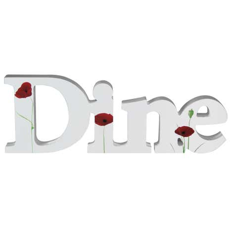 Poppy Dine Decorative Word