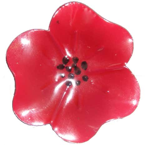 Red Poppy Napkin Ring