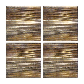 Pack of 4 Bronze Ridge Coasters