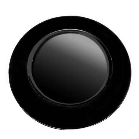 Black Spectrum Charger Plate