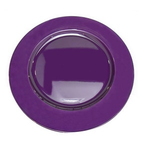 Spectrum Purple Charger Plate