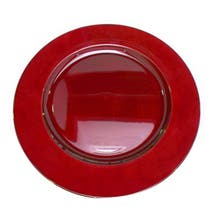 Spectrum Red Charger Plate