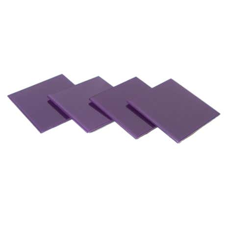 Purple Spectrum Set of 4 Glass Coasters