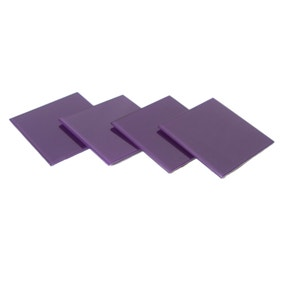Spectrum Purple Set of 4 Glass Coasters