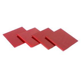 Spectrum Red Set of 4 Glass Coasters