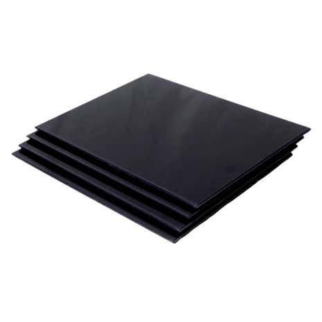 Spectrum Black Set of 4 Glass Placemats