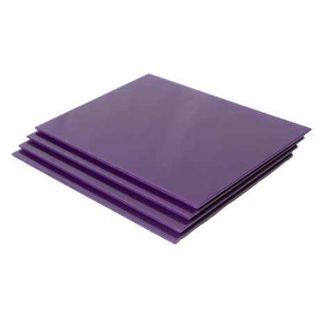 Purple Spectrum Set of 4 Glass Placemats
