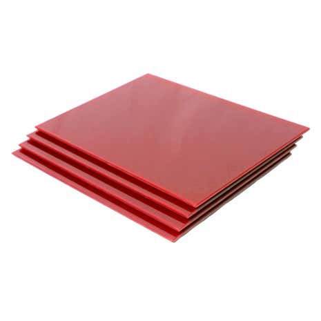 Red Spectrum Set of 4 Glass Placemats