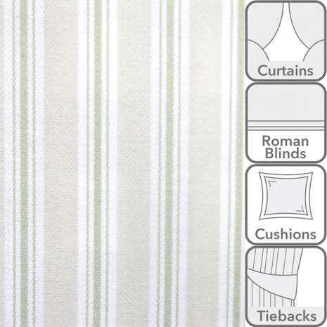 Pampas Bay Stripe Fabric