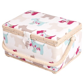 Scotty Dogs Sewing Basket