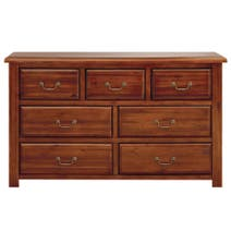 Winchester Acacia Dark Wood 7 Drawer Chest