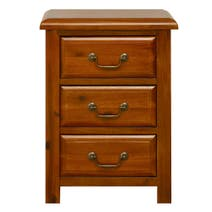 Winchester Acacia 3 Drawer Bedside Table