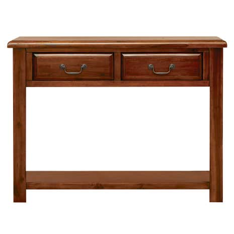 Winchester Acacia Dark Wood Console Table