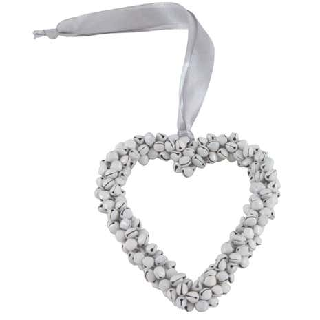 Plum Pudding Hanging Heart Decoration with Bells