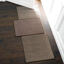 Plain Biscuit Washable Runner