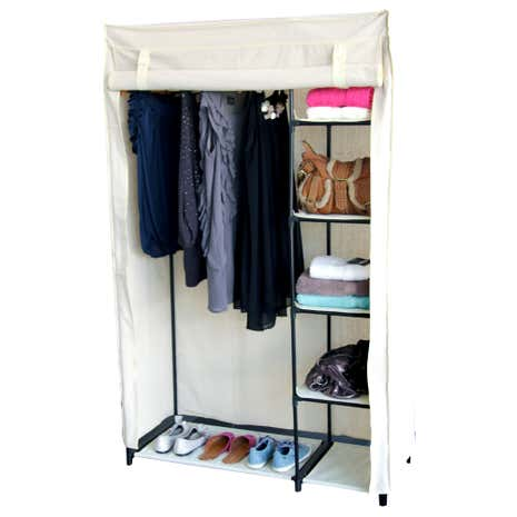 100% Cotton Wardrobe with Shelves