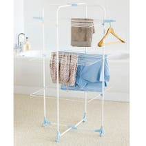Utility Room White 3 Tier Clothes Dryer Tower
