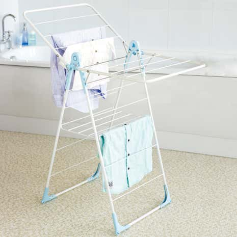 Utility Room White Slim X-Wing Airer