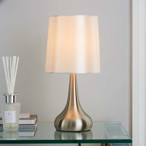 Touch table lamps dunelm best inspiration for table lamp for Bedroom touch table lamps