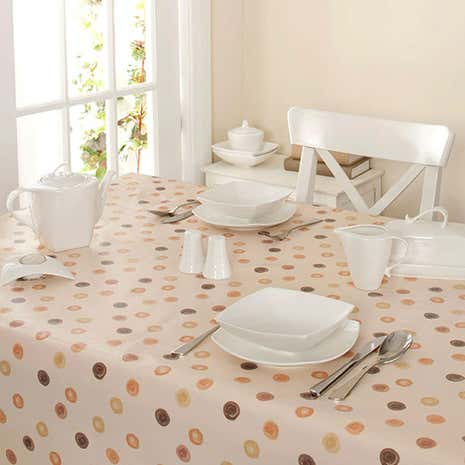 Country Natural Spots PVC Tablecloth