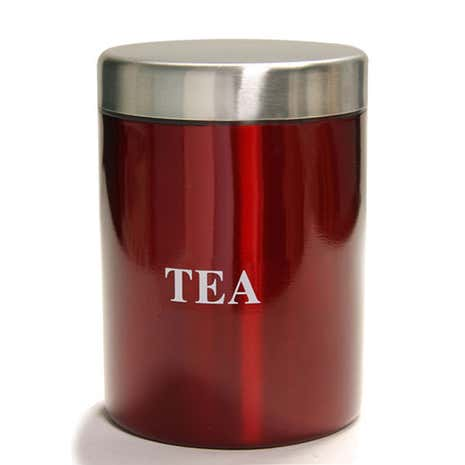 Red Spectrum Tea Canister
