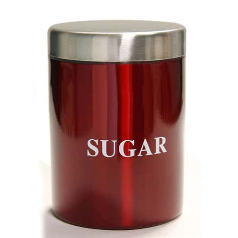 Red Spectrum Sugar Canister