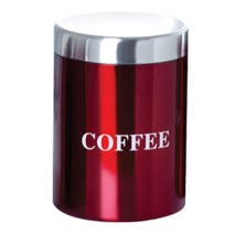 Red Spectrum Coffee Canister