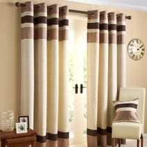 Chocolate Alban Eyelet Curtain